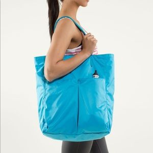 Lululemon Go With The Flow Bag Yoga Tote Spry Blue